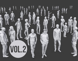 3D model game-ready Complete Lowpoly People Pack Volume 2