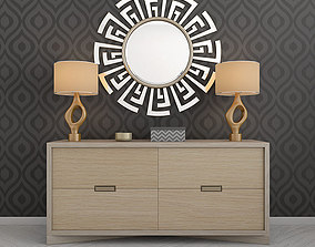 Console Mirror and Lamp 3D asset