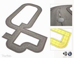 3D asset Road Modules PBR Pack
