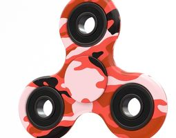 3D Red camo spinner