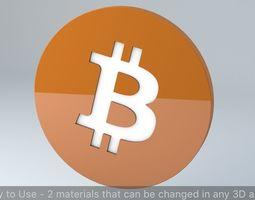 Bitcoin Crypto Currency 3D Logo