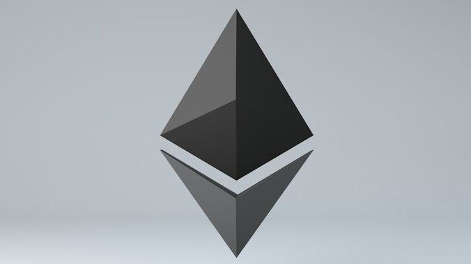 Ethereum Crypto Currency 3D Logo