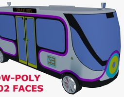 3D model realtime Smart Minibus LOW-POLY
