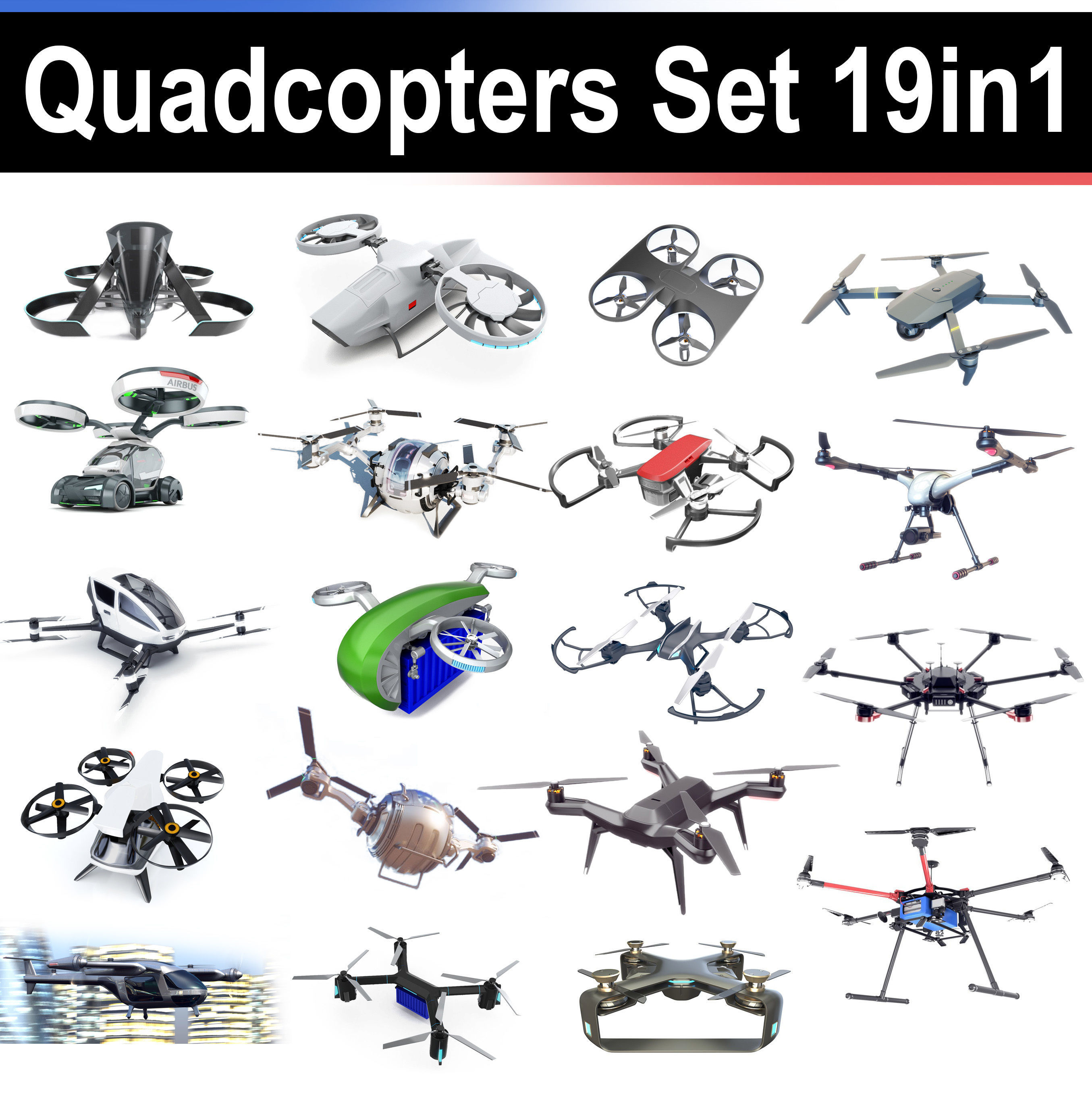 Quadcopters Set 19in1