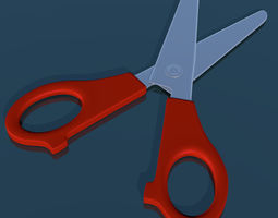 School scissor rigged low poly 3D asset