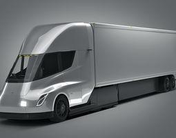 3D energy Tesla semi truck