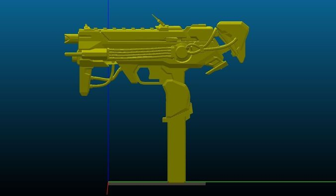 sombra augmented gun printable 3d model obj mtl stl 1