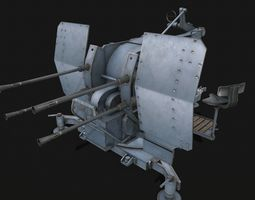 Flakvierling 38 3D model