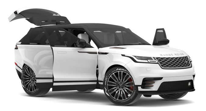 2018 Land Rover Models >> 2018 Land Rover Range Rover Velar Fuji White 3d Model