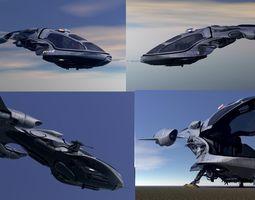 Police Patrol V-1255 Flying Vehicle 3D