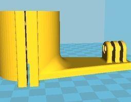 3d printable model gopro mound for bike motorbike shock damper mount