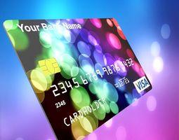 3D model realtime Visa Credit Card