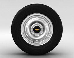 Chevrolet Niva Wheel 15 inch 001 3D