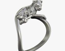 3D print model Ring Lioness