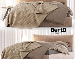 Berto Salotti Soho bed 3D