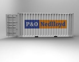 20ft container 3d print model