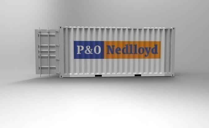 20ft container 3d model stl sldprt sldasm slddrw 1