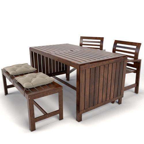 garden furniture applaro ikea 3d model