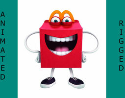 Happy meal McDonalds 3D asset