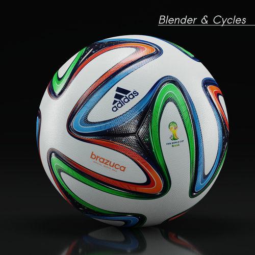 size 40 45ef1 a1e19 Brazuca - Adidas - 2014 World Cup Ball - 3D 3D model