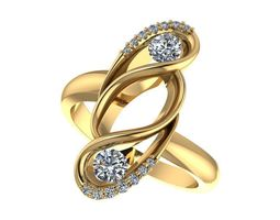 gold 3D print model Fashion ring
