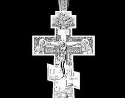 3D print model jewellery cross