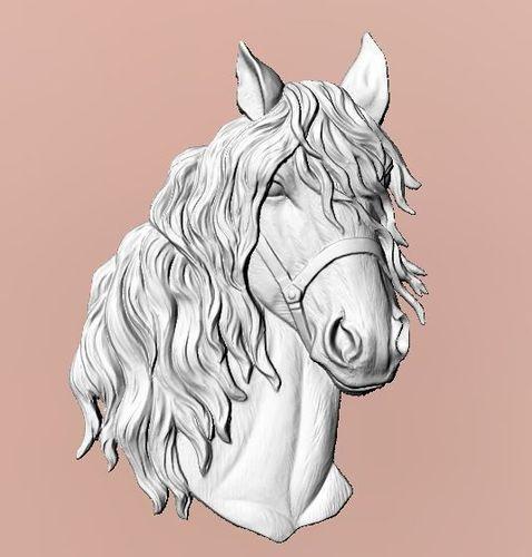 horse head 3d model stl 1