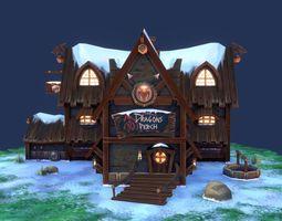 Dragon Peach house 3D asset