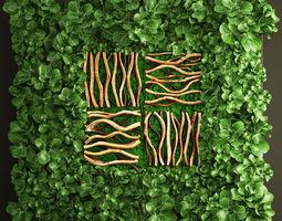 3D Vertical gardening leaves
