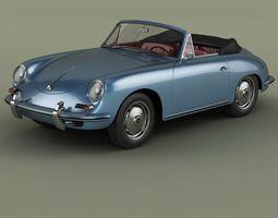 3D Porsche 356B T5 Cabrio