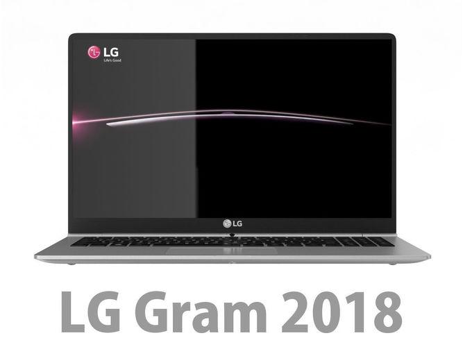 lg gram 2018 3d model max obj mtl 3ds fbx c4d lwo lw lws 1