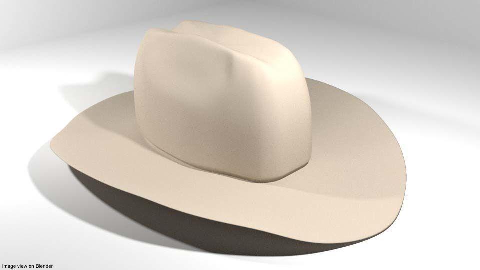 e2392946900b8 3D model Hat - Cowboy   CGTrader