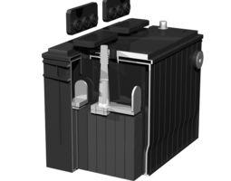 3D model standard car battery