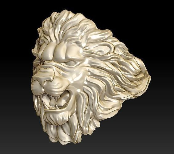 lion ring light 3d model stl 3dm 1