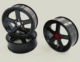 Car Rims 3D model rigged