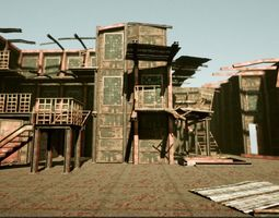 UE4 Old Factory Modular Package 3D model