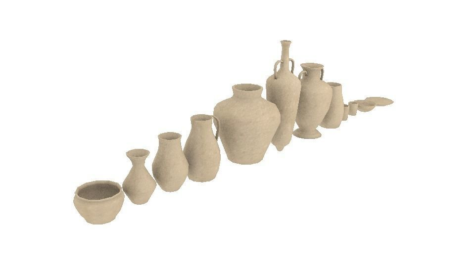Lowpoly pottery collection