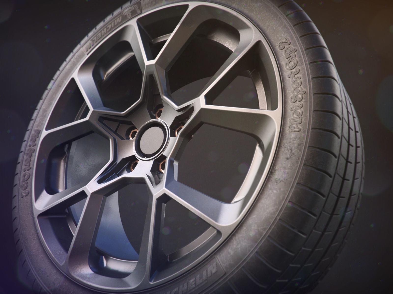 Realistic Car Tire - Michelin Sport Cup 2