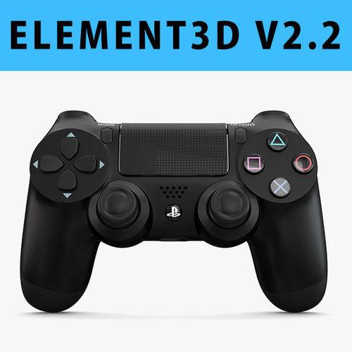 e3d - sony playstation ps4 pro controller 3d model max obj c4d mtl 1
