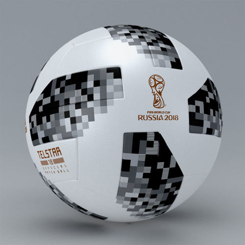 fifa 2018 official match ball worldcup telstar - russia 3d model max obj mtl 3ds 1