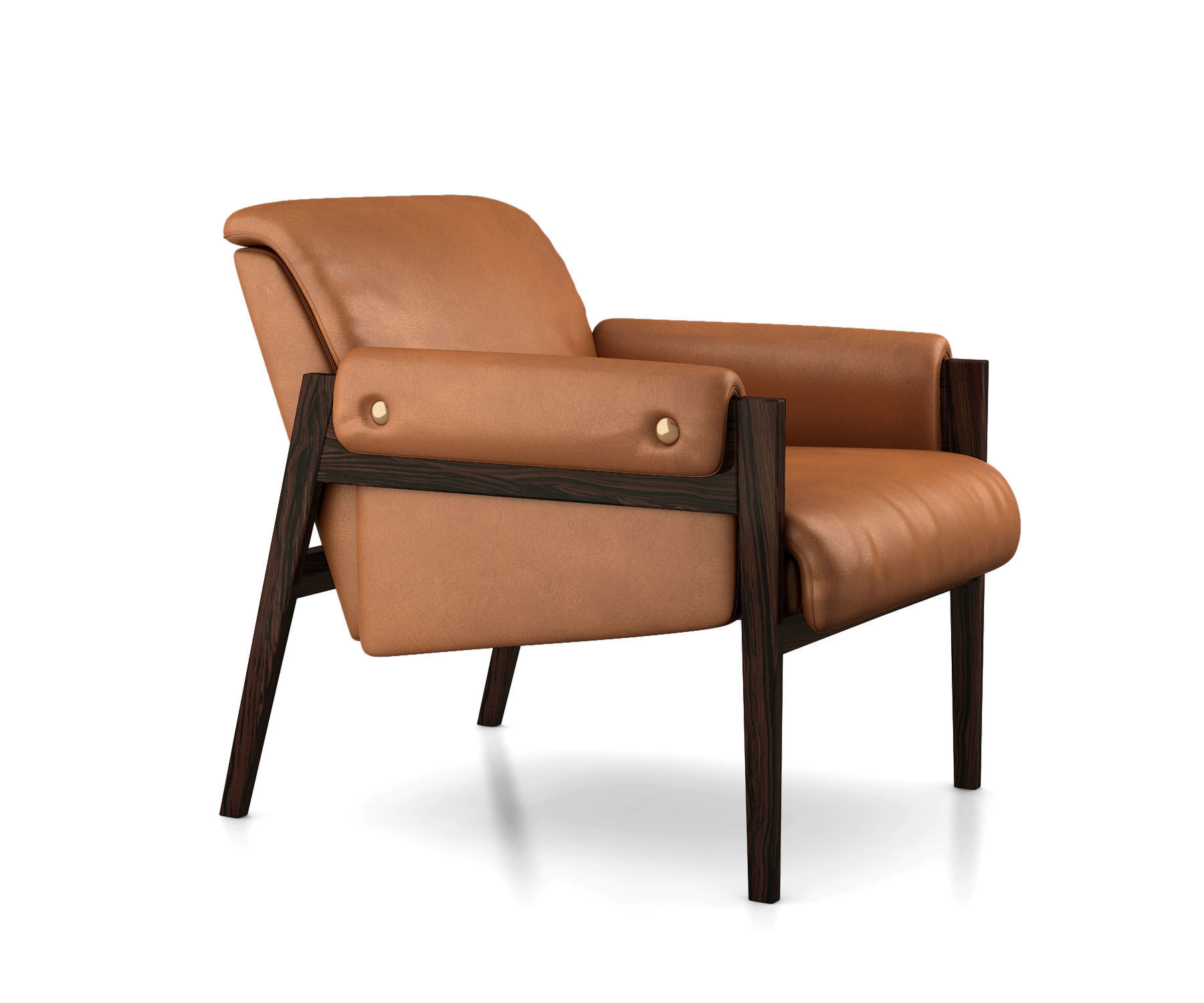 Fabulous Stanton Leather Chair By West Elm 3D Model Download Free Architecture Designs Sospemadebymaigaardcom