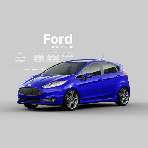 fiesta st 2016 - exterior interior engine 3d model obj mtl fbx blend 1