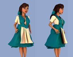 belle from beauty and the beast 3d
