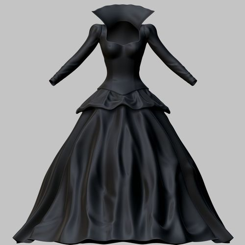 a2d71aa2c03 3D model VR   AR ready Victorian Gothic Dress