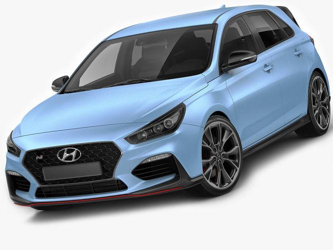 hyundai i30 n 2018 3d model max obj mtl 3ds fbx c4d lwo lw lws 1