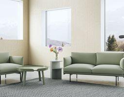 3D Muuto Outline Sofa Set