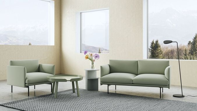 3d Muuto Outline Sofa Set Cgtrader
