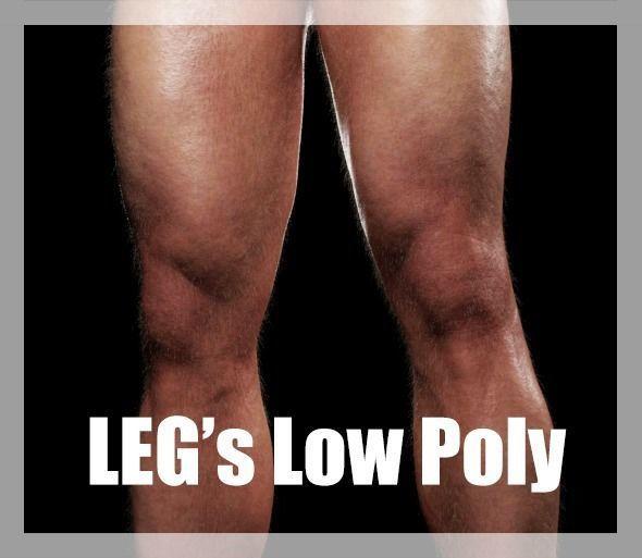 Legs Low Poly CG
