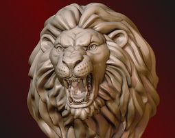 Lion Head 3D print model roar