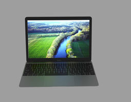 Macbook laptop 3D model